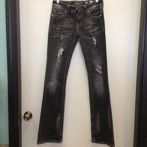 Womens Miss Me Jeans Size 28 Boot Cut